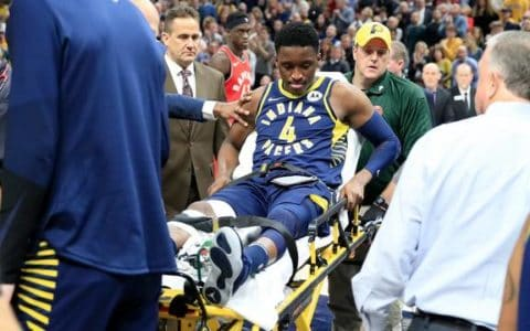 NBAStar-Victor-Oladipo-quadriceps knee tendon rupture