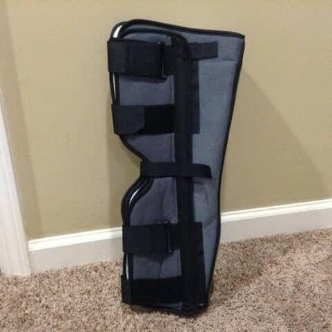 full leg brace quad tendon injury