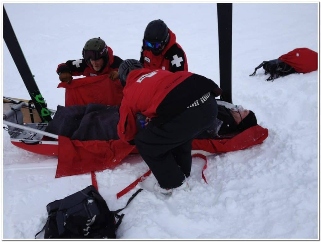 Skiing Accident Quad Tendon Ruptures Stevens Pass Ski Patrol
