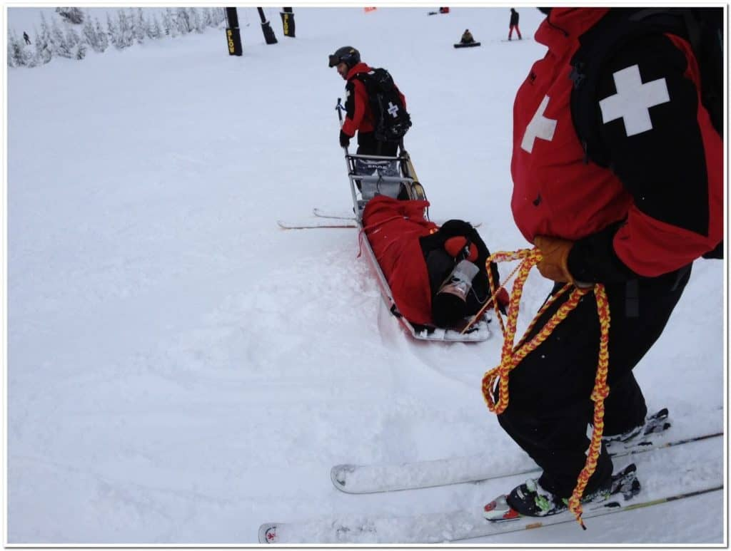 Skiing Accident Quad Tendon Ruptures Stevens Pass Ski Patrol 5