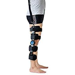 telescopic hinged knee brace quad rupture